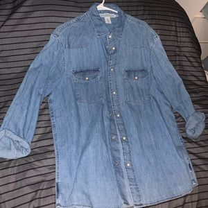 H&M JEAN BUTTON DOWN